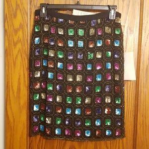Dresses & Skirts - STUNNING Jewel Toned Sequined Skirt